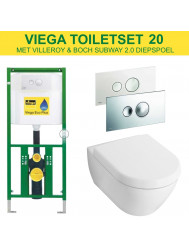 Viega EcoPlus Toiletset 20 V&B Subway 2.0 Diepspoel met Visign for Style 10 drukplaat