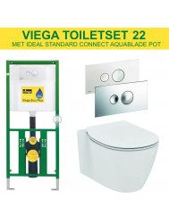 Viega EcoPlus Toiletset 22 Ideal Standard Connect Aquablade met Visign for Style 10 drukplaat