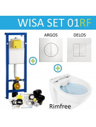 Wisa XS Toiletset set01 Design Rimfree met Argos of Delos drukplaat