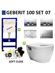 Geberit UP100 set07 Wiesbaden Prio Rimfree met Delta drukplaat