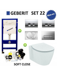 Geberit UP100 set22 Ideal Standard Connect Aquablade met Delta drukplaat