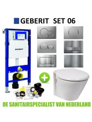Geberit UP320 Toiletset set06 Laufen Royal Disign met Sigma drukplaat