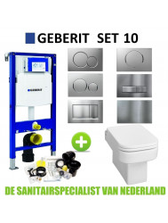 Geberit UP320 Toiletset set10 Wiesbaden Carré met Sigma drukplaat
