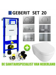 Geberit UP320 Toiletset set20 Villeroy & Boch Subway 2.0 met Sigma drukplaat