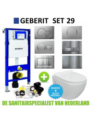 Geberit UP320 Toiletset set29 VM Go Aquaflow Rimfree met Sigma drukplaat