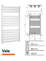 Handdoekradiator Boss & Wessing Vale 1120 x 660 mm