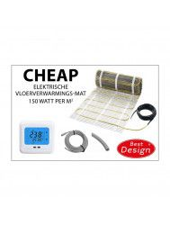 Vloerverwarming Best Design Cheap Elektrische Vloerverwarmingsmat 10m2 (150 Watt)