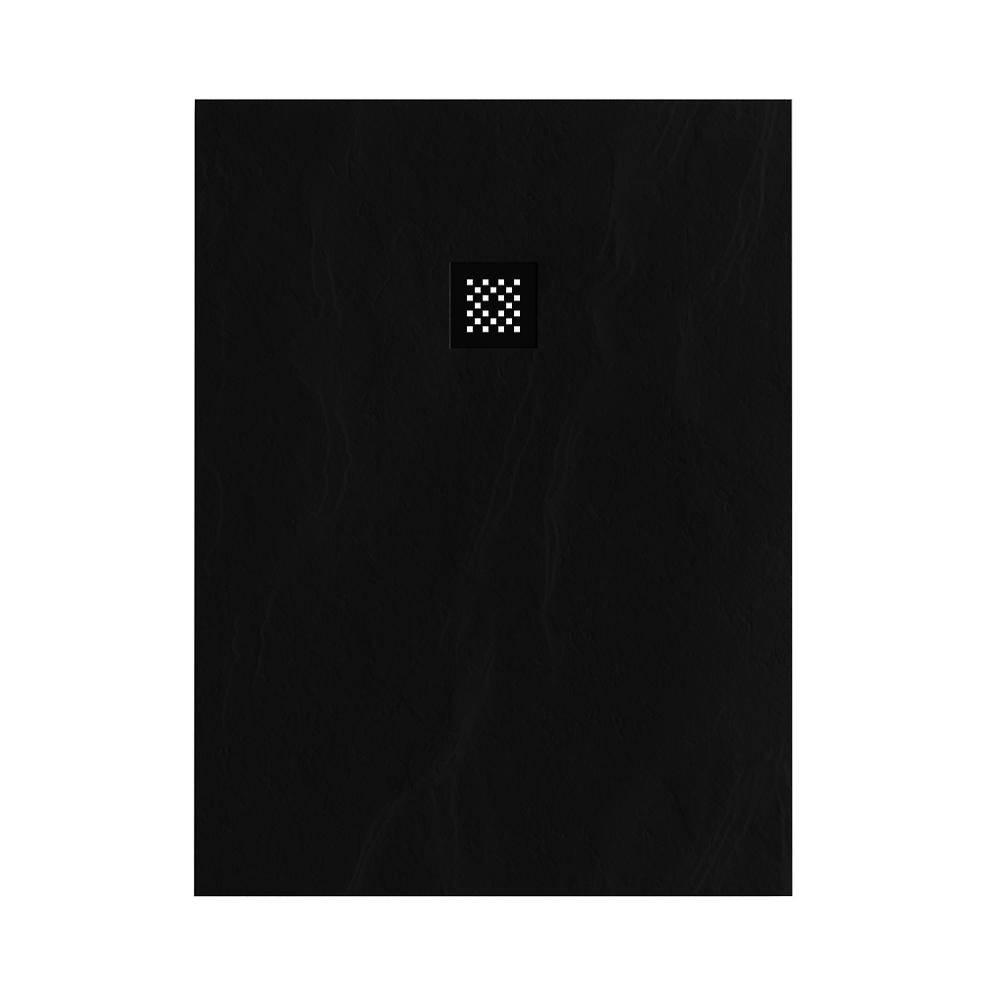 Productafbeelding van Douchebak Sanitop Just Creating Relievo Crag 90x120 cm Mat Zwart