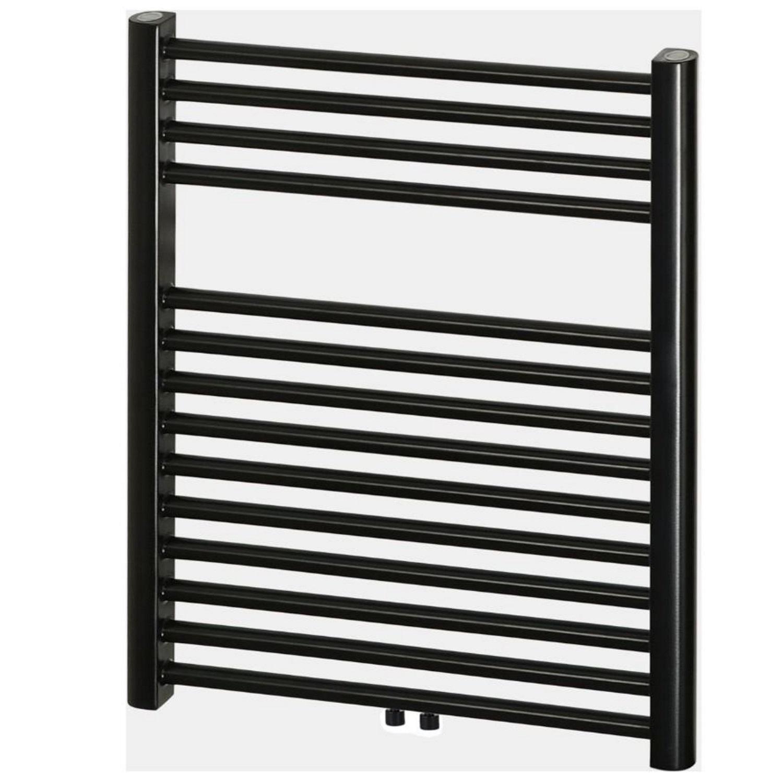Designradiator Haceka Gobi Adoria 59×69 cm Zwart 6-Punts Aansluiting (368 Watt) Haceka Gratis bezorgd