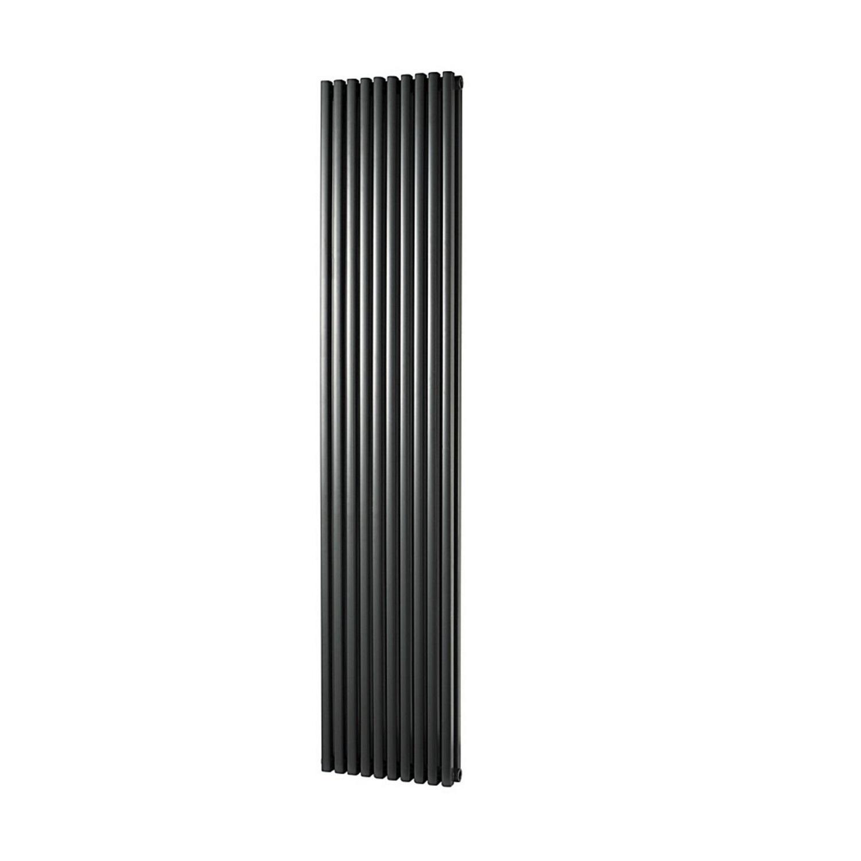 Designradiator Haceka Mojave Adoria 38x184 cm Antraciet 6-Punts Aansluiting (1814 Watt) voordeel