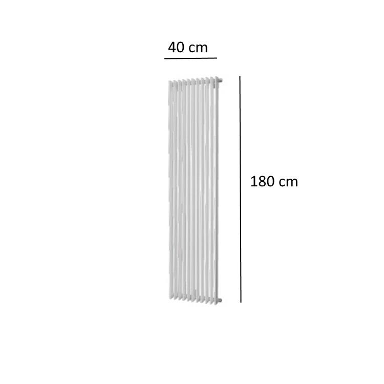 Badkamer Radiator 1400 Watt.Designradiator Plieger Antika 1215 Watt Midden Of Zijaansluiting 180x40 Cm Wit
