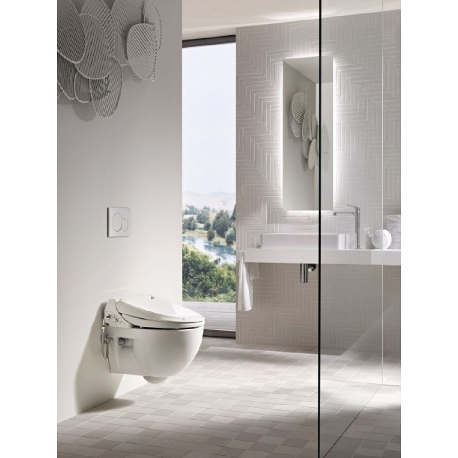 geberit aquaclean 4000 douche wc met closet model 1 wateraansl wit 146135111. Black Bedroom Furniture Sets. Home Design Ideas