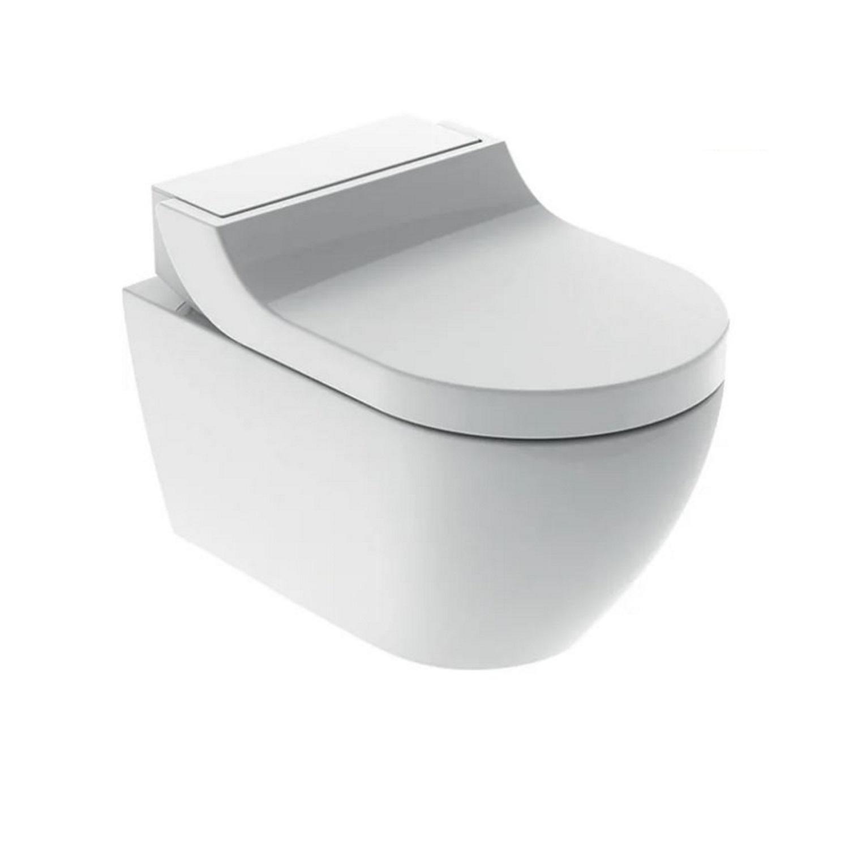 Toilet > Douche WC > Douche WC kopen? Douche WC Geberit AquaClean Tuma Comfort Compleet Rimfree Glas Wit het voordeligst hier