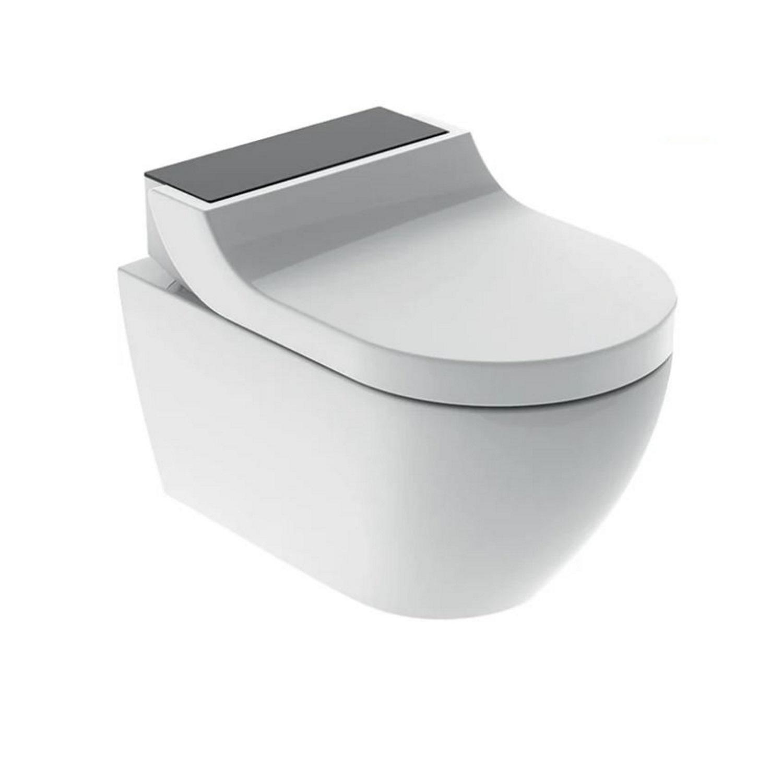 Toilet > Douche WC > Douche WC kopen? Douche WC Geberit AquaClean Tuma Comfort Compleet Rimfree Glas Zwart het voordeligst hier