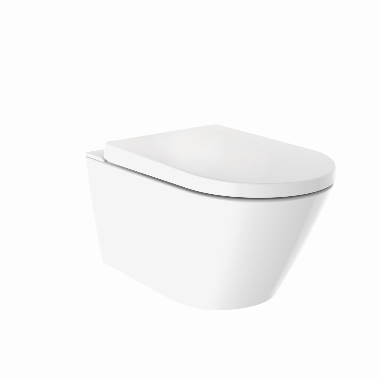 Productafbeelding van Douche WC Wiesbaden Vesta-Comfort Randloos Wandcloset Wit
