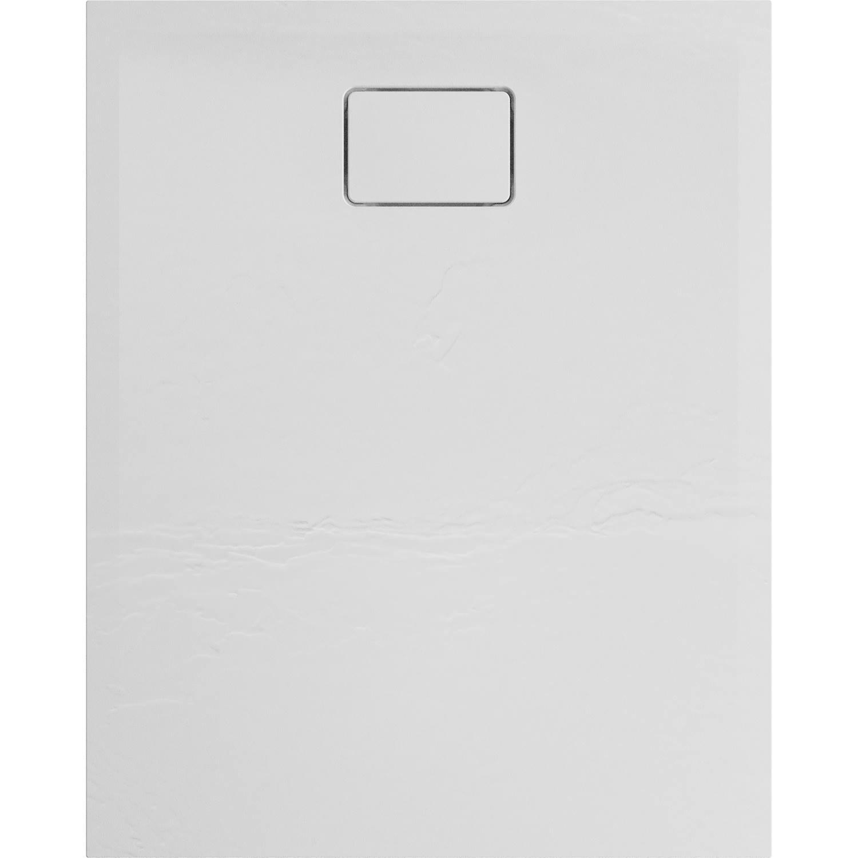 Douchebak Allibert Terreno Rechthoek Inbouw Polybeton 100x80 cm Wit
