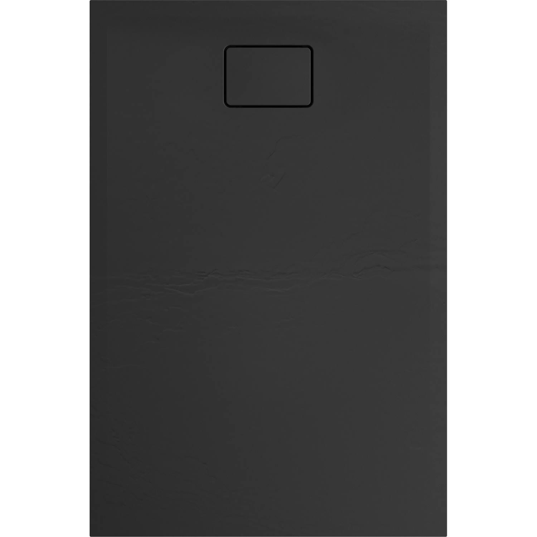Douchebak Allibert Terreno Rechthoek Inbouw Polybeton 120x80 cm Bazalt Zwart