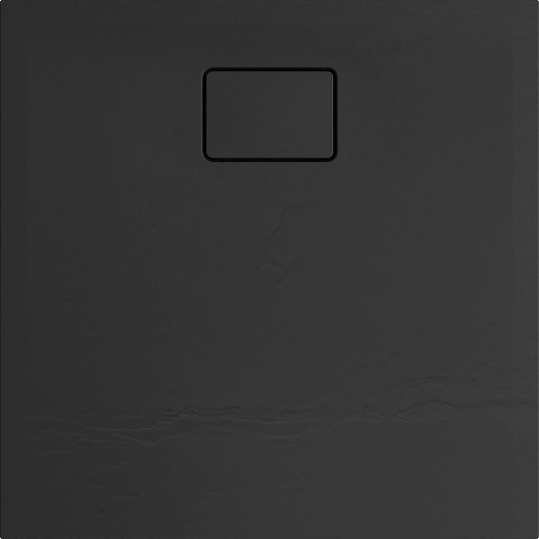 Douchebak Allibert Terreno Vierkant Inbouw Polybeton 80x80 cm Bazalt Zwart
