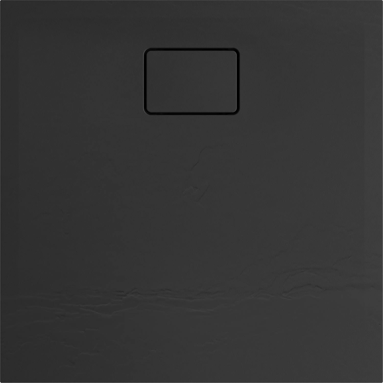 Douchebak Allibert Terreno Vierkant Inbouw Polybeton 90x90 cm Bazalt Zwart