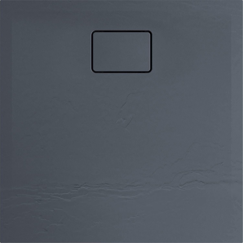 Douchebak Allibert Terreno Vierkant Inbouw Polybeton 90x90 cm Vuursteen Grijs