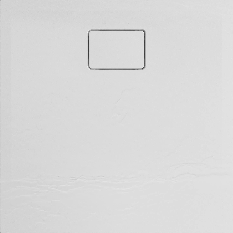 Douchebak Allibert Terreno Vierkant Inbouw Polybeton 90x90 cm Wit