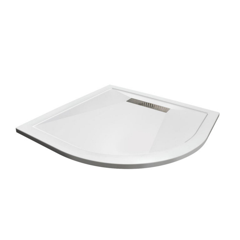 Douchebak Aqualux Aqua25 Definition Kwartrond 90x90 cm met Afvoer Steencomposiet Wit voordeel