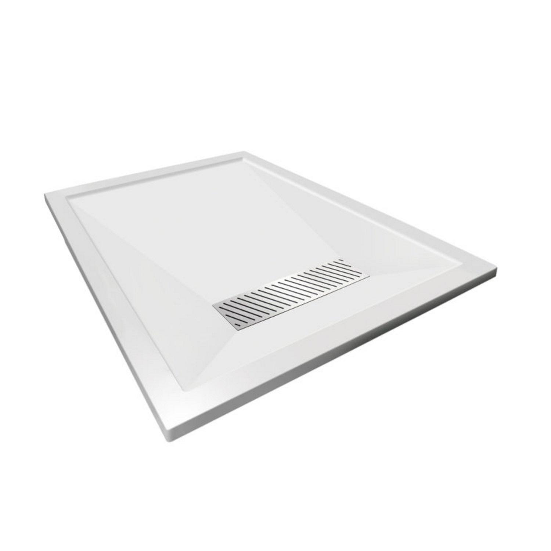 Douchebak Aqualux Aqua25 Definition 170x90 cm met Afvoer Steencomposiet Wit voordeel