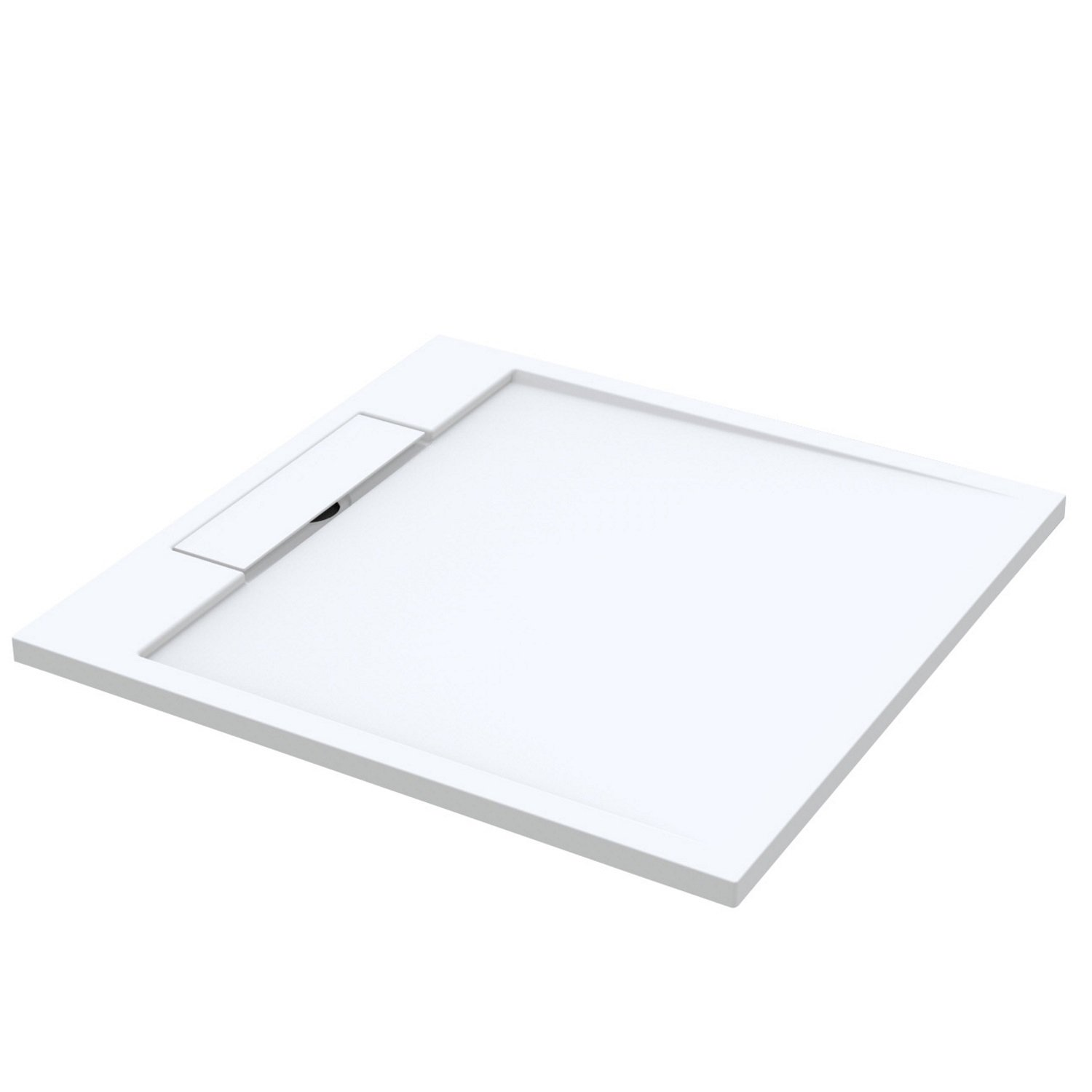 Douchebak Best Design Decent 90x90x3.5 cm Solid Surface Mat Wit