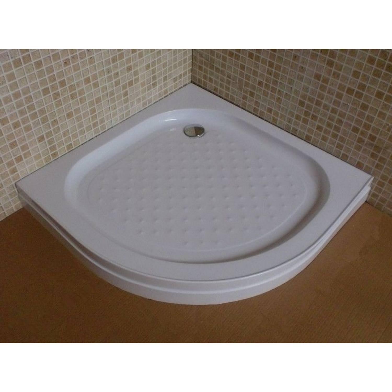 Douchebak BWS Tripoli Kwartrond 80x80x12.5 cm ABS Wit voordeel