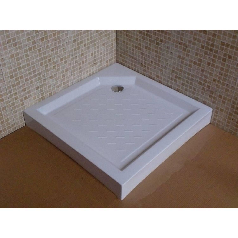 Douchebak BWS Tripoli Vierkant 80x80x12.5 cm ABS Wit voordeel