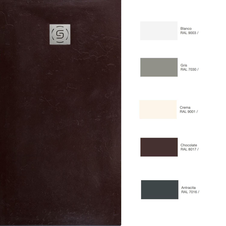 Sanitair-producten 67118 Natuursteen Douchebak Slab Pizarra Textuur (In meerdere maten en kleuren beschikbaar)