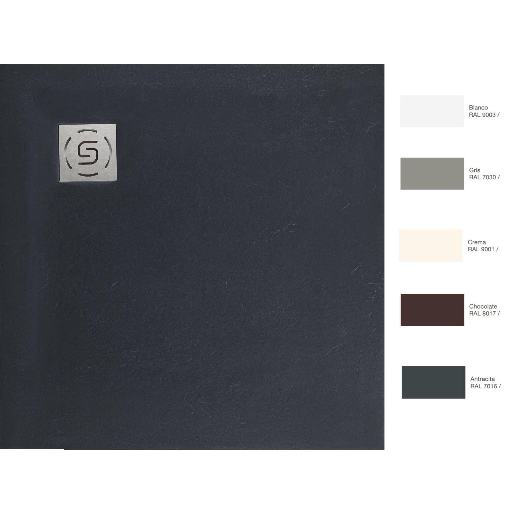 Sanitair-producten 67416 Natuursteen Douchebak Square (In meerdere maten, kleuren en structuren beschikbaar)
