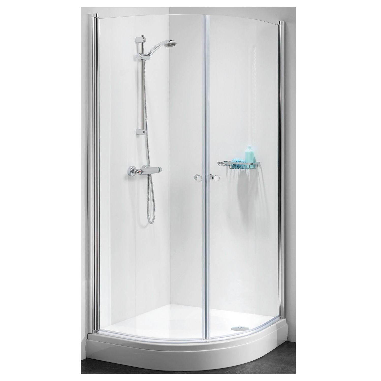 Sealskin Get Wet C105 douchecabine kwartrond met 2 deuren 70x90x195cm chroom helder glas