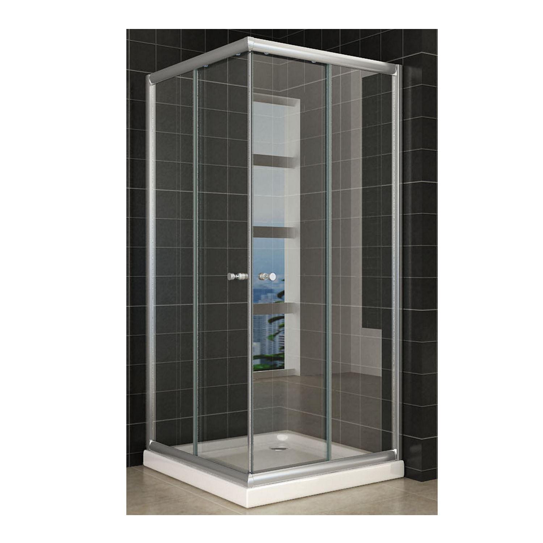 Douche 67160 BWS Eco Hoekinstap Douchecabine 90x90x190 cm 5mm Helder Glas