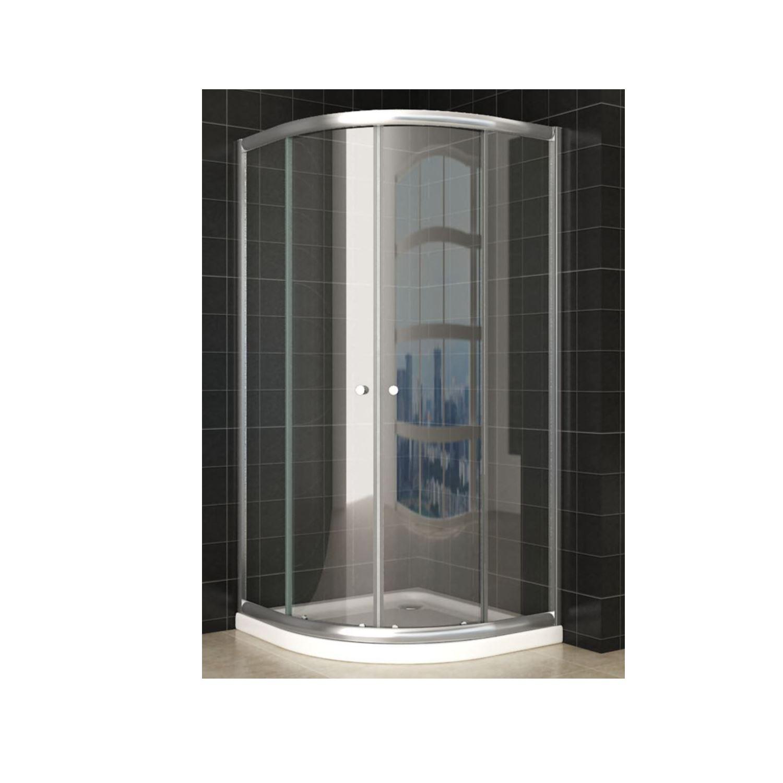 Douche 44766 Douchecabine Wiesbaden Aktie Kwartrond 90x90x190 cm 5mm Helder Glas