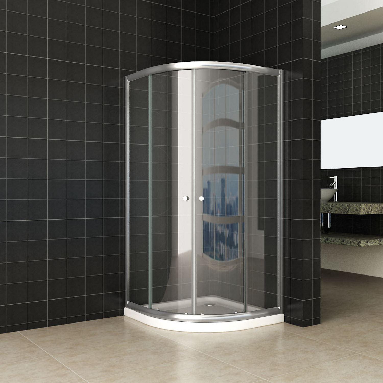 Sanitair-producten 44766 Douchecabine Wiesbaden Aktie Kwartrond 90x90x190 cm 5mm Helder Glas