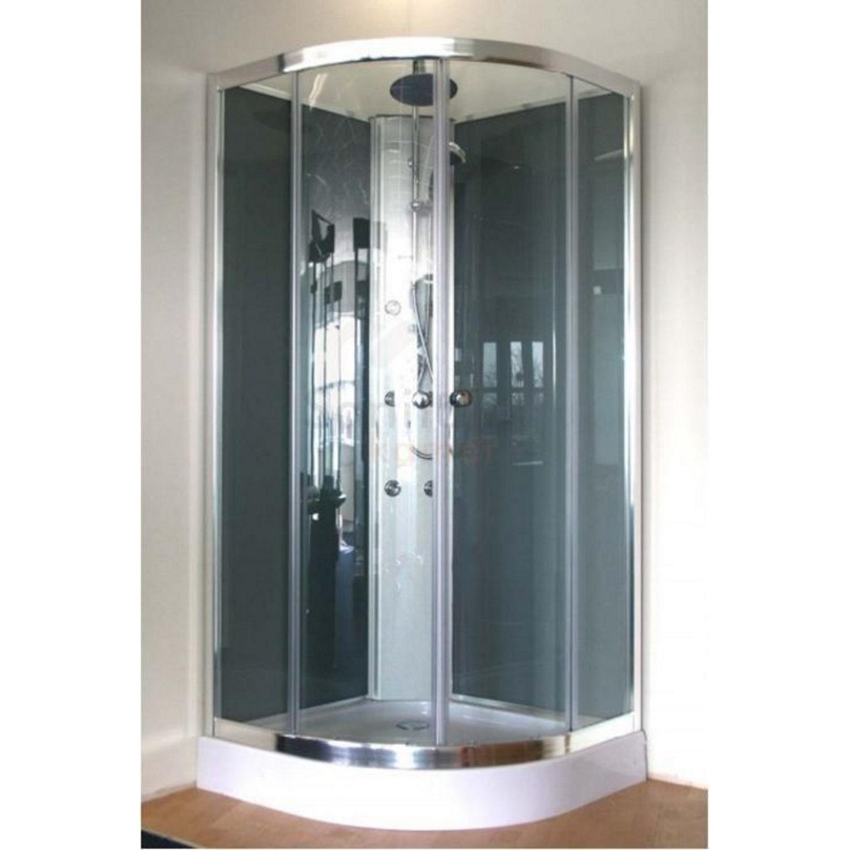 Douchecabine Aqualux Complete New York 90x90x230 cm 3mm Helder Glas Aluminium Profiel voordeel