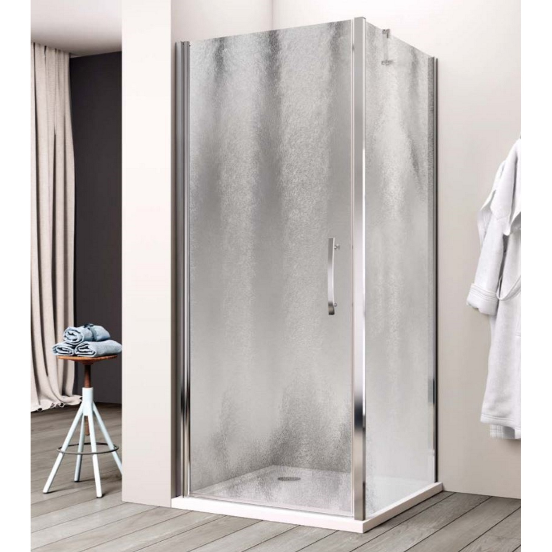 Productafbeelding van Douchecabine Lacus Giglio Fox Eéndelig 80 cm Chinchilla Glas Aluminium Profiel (1 zijwand)