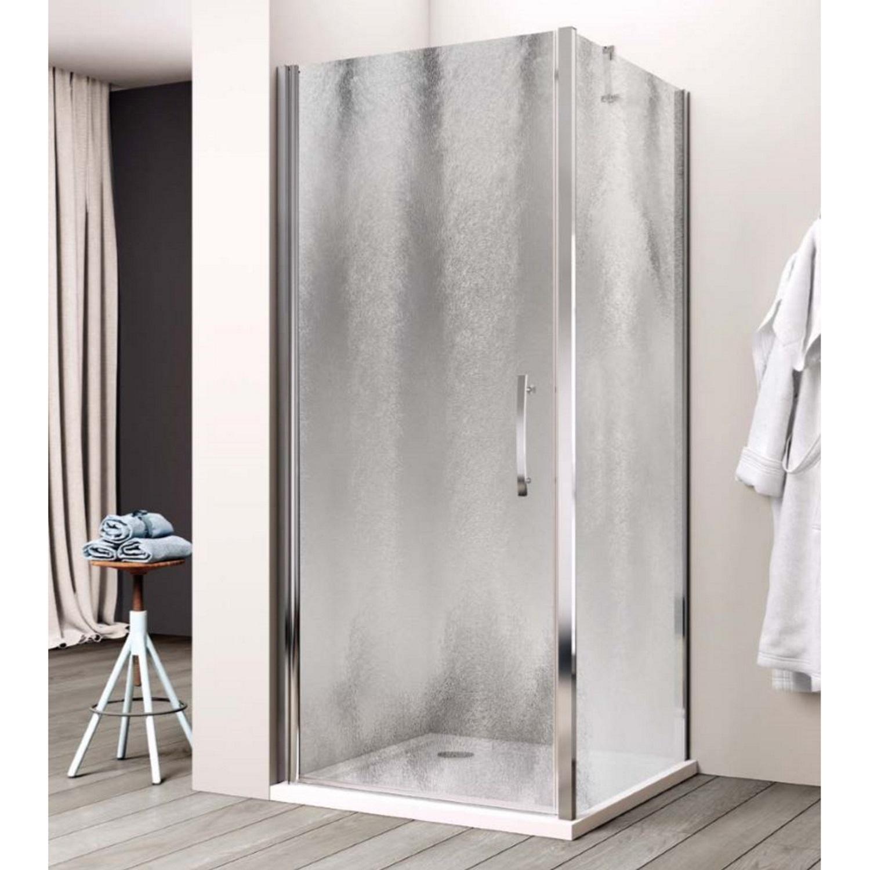 Productafbeelding van Douchecabine Lacus Giglio Fox Eéndelig 100 cm Chinchilla Glas Aluminium Profiel (1 zijwand)