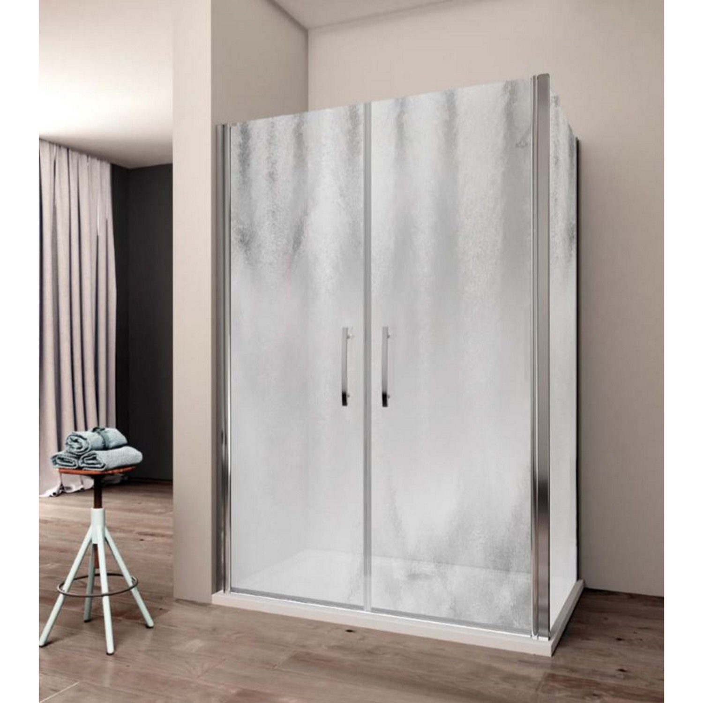 Productafbeelding van Douchecabine Lacus Giglio Fox 120 cm Chinchilla Glas Aluminium Profiel (1 zijwand)