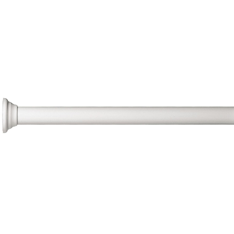 Douchegordijnstang Allibert Spirella Decor Wit Ø25mm 60cm vergelijken Douchegordijnen kopen Allibert ervaringen