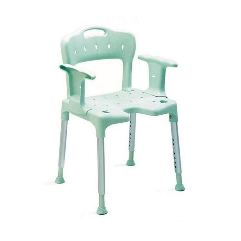 ETAC douche--toiletstoel staand Swift, frame al, frame groen