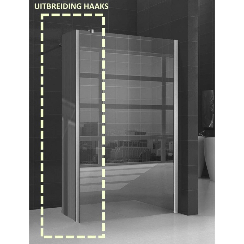 Sanitair-producten 5950 Zijwand Wiesbaden Hoekprofiel 40x200cm 10mm NANO coating