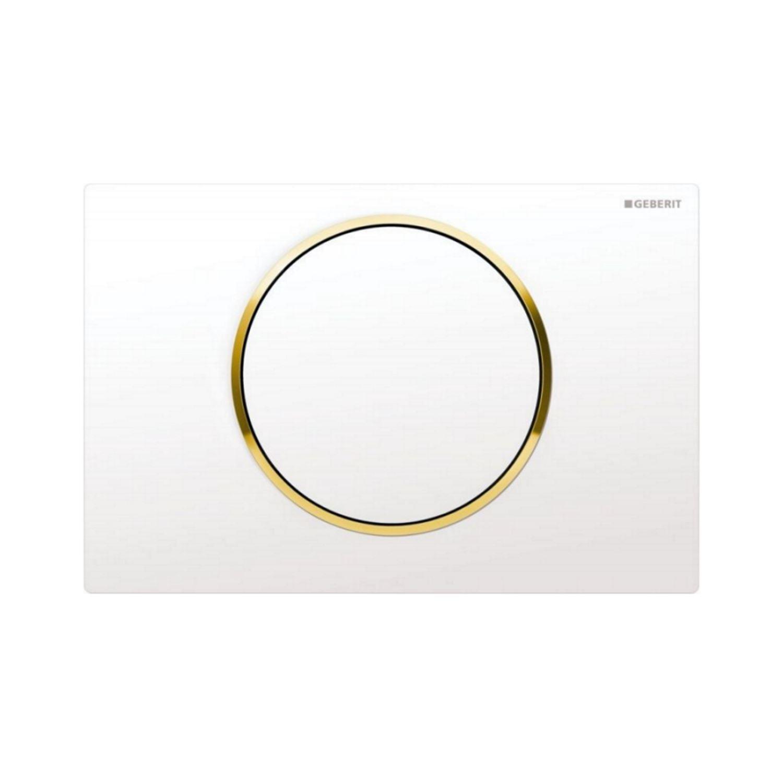 bedieningsplaat geberit sigma 10 wit met goud. Black Bedroom Furniture Sets. Home Design Ideas