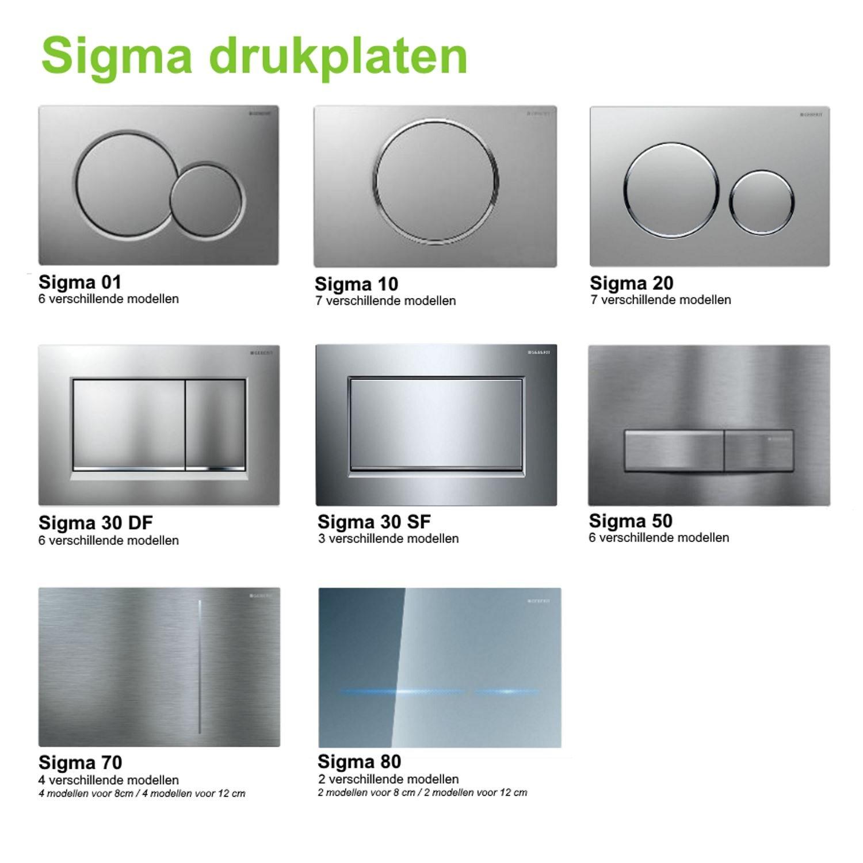 9cb1de1004b Geberit UP320 Toiletset set25 Wandcloset Idevit Alfa met Bidet Randloos met  Sigma drukplaat