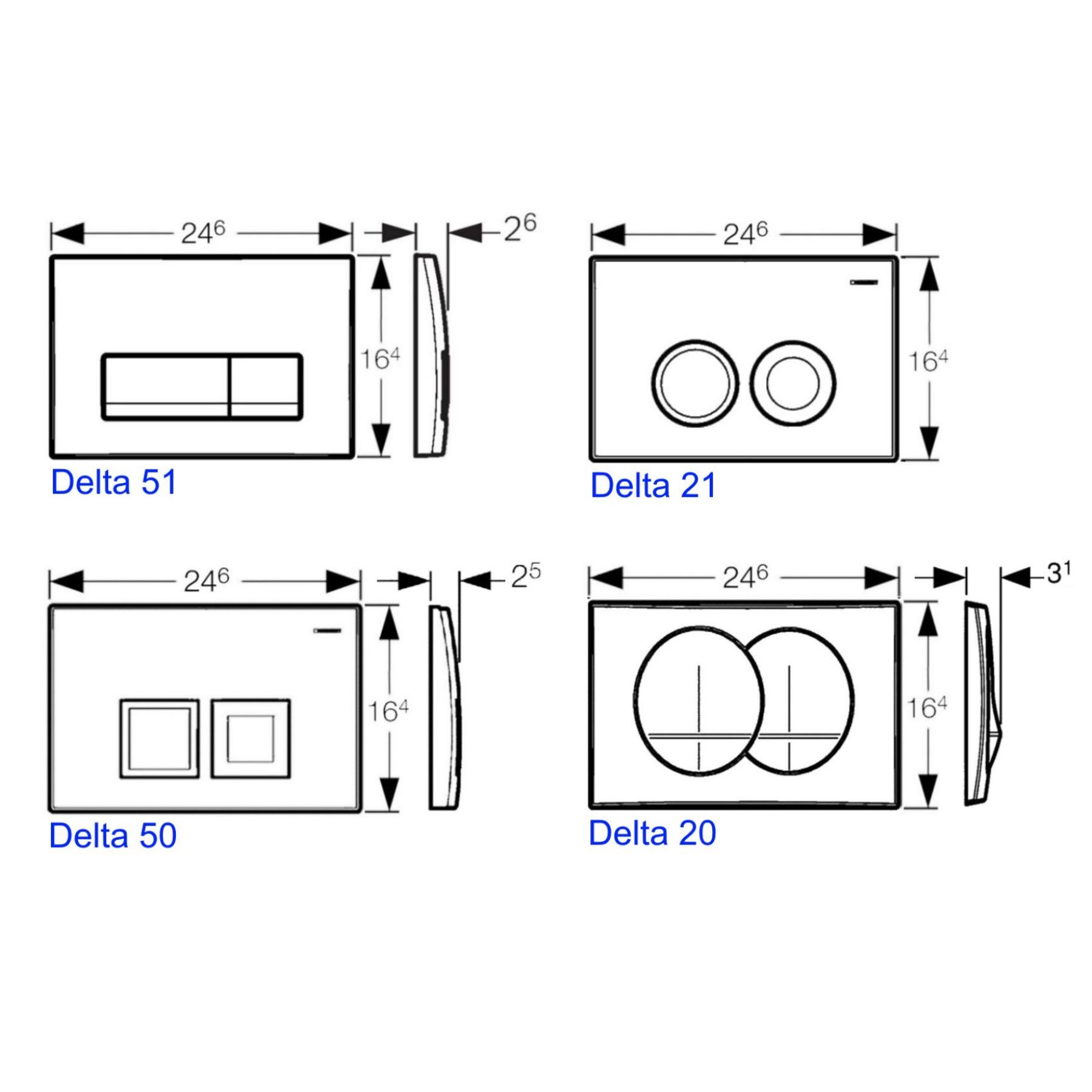 Zeer Geberit UP100 Toiletset set31 Sanilux Easy Flush Randloos 48cm TH08