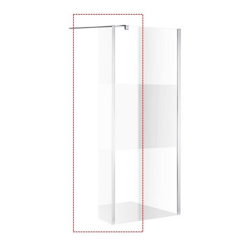 Zijwand Inloopdouche Athena met Hoekpaneel Middenband 45x200 cm 8 mm NANO Glas kopen - Tegel Depot sanitair met korting