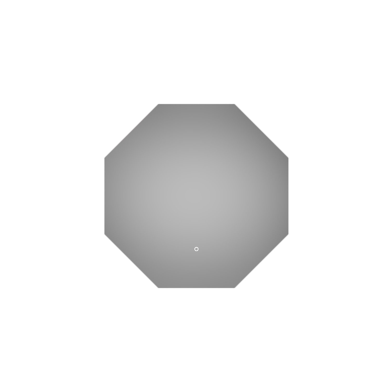 Badkamerspiegel Martens Design Stockholm Hexagon 80 cm met Verlichting en Touch Schakelaar kopen - Tegel Depot sanitair met korting