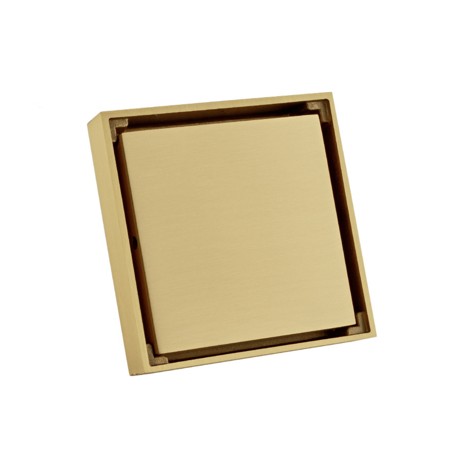 Doucheput Massief Messing 10x10 cm Goud