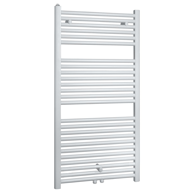 Badkamer radiator > Designradiator > Designradiator kopen? Elara sierradiator wit 1185×600 Middenonder aansluiting het voordeligst hier
